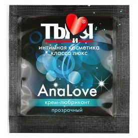 Анальный крем-лубрикант AnaLove в одноразовой упаковке - 4 гр.