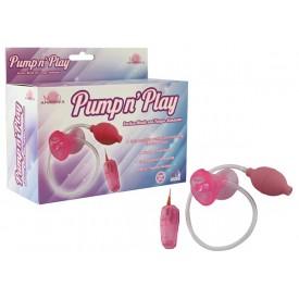 Розовая помпа с вибрацией Pumpn